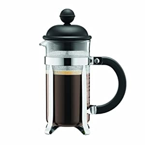 Bodum Caffettiera French Press Coffee Maker, Black Plastic Lid and Stainless Steel Frame,... by Bodum