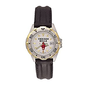 Chicago Bulls Ladies NBA All-Star Watch (Leather Band) by NBA Officially Licensed