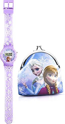 Disney Frozen FROZ10SET Orologio da Polso Unisex da Bambino, Plastica, Viola