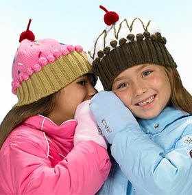 15c36121e4c Girls Soft Crochet Cupcake Beanie Winter Hat Cap choose Pink w  Sprinkles  or White Chocolate