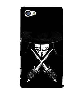 Devil with Sword and Hat 3D Hard Polycarbonate Designer Back Case Cover for Sony Xperia Z5 Premium :: Sony Xperia Z5 Premium Dual