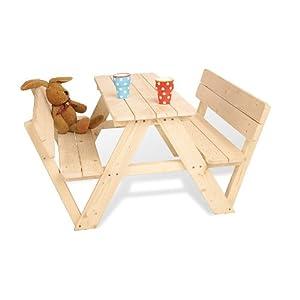 Pinolino, Set di tavolino e panche Nicki, con schienale, per bambini  Prima infanzia recensioni dei clienti Valutazione