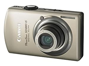 Canon PowerShot SD880IS 10MP Digital Camera with 4x Wide Angle Optical Image Stabilized Zoom (Gold)