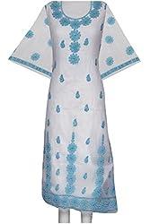 ADA Equisite Lucknow Chikankari Ethnic Wear Unstitched Kurta Piece A95060