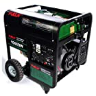16 Hp 10000 Watt Portable Gas Electric Start Generator with Wheel Kit and Electric Start 10K