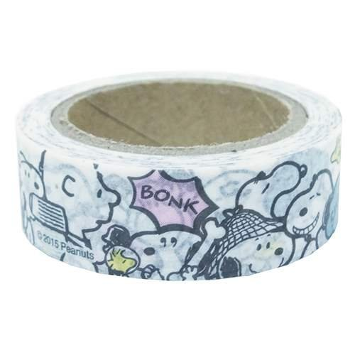 Snoopy and Friends White Colored Decorative Border Tape