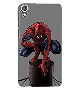 ColourCraft Superhero Design Back Case Cover for HTC DESIRE 820