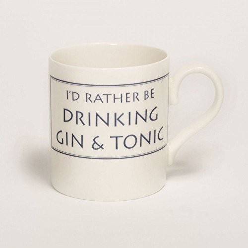 Stubbs Mugs I'D Rather Be Drinking Gin & Tonic Mug Bone China