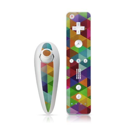 Connection Design Nintendo Wii Nunchuk + Remote Controller Protector Skin Decal Sticker remote and nunchuk controller gamepad for wii with wrist strap without motion plus