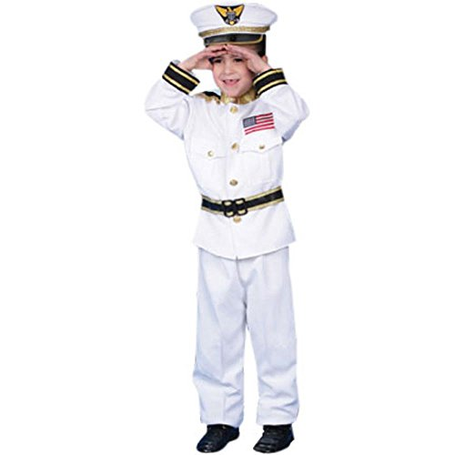 Child's Navy Admiral Halloween Costume (Small 4-6)