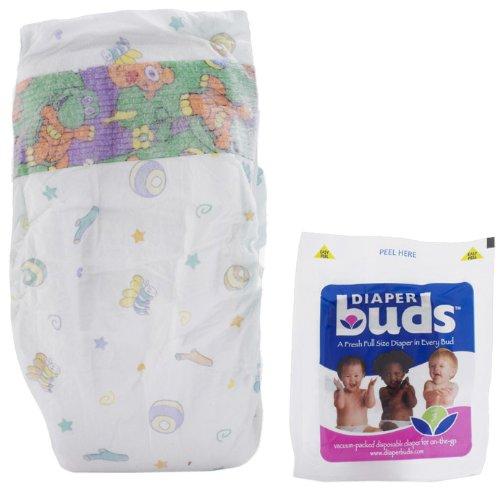 Diaperbuds Vacuum Sealed Premium Disposable Diapers - size 2 , 30ct multipack