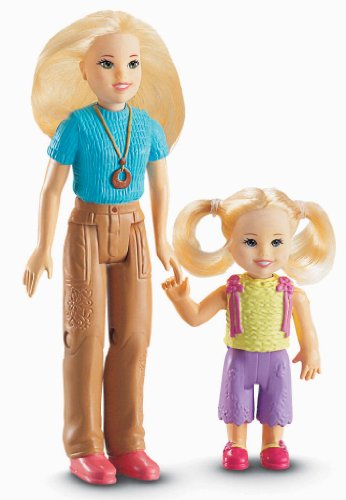 Fisher Price Loving Family Dollhouse Accessory 2 Pack Figure Set Mom and girl toddler