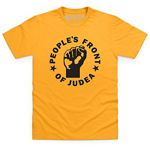 Inspired By Life Of Brian T-shirt - Peoples Front Of Judea, Uomo, Giallo, M