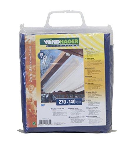 Toldo para estructura corredera Windhager, azul puro, 270 x 140cm