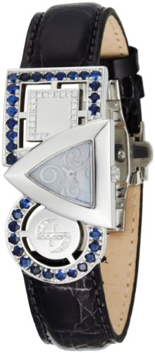 Swisstek Women's SK21906L Equilibre Blue Sapphire and Diamond Quartz Watch