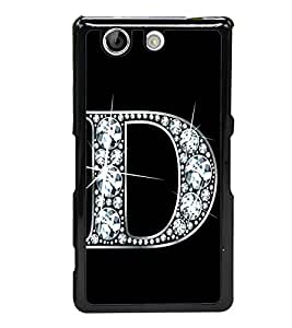 Alphabet D 2D Hard Polycarbonate Designer Back Case Cover for Sony Xperia Z4 Compact :: Sony Xperia Z4 Mini