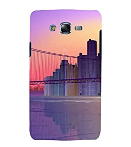 printtech City Building Bridge Back Case Cover for Samsung Galaxy J1 / Samsung Galaxy J1 J100F