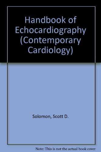 Handbook of Echocardiography (Contemporary Cardiology)