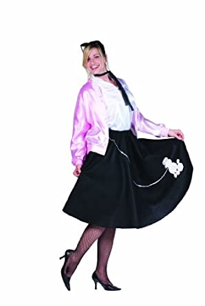 RG Costumes Women's Plus-Size Poodle Skirt Plus, Black, X-Large