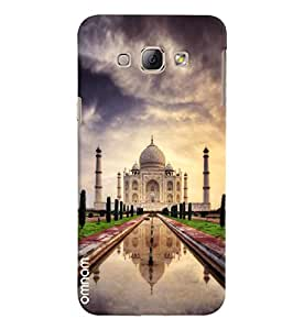 Omnam World First Wonder The Taj Mahal Printed Desinger Back Cover Case For Samsung Galaxy A8