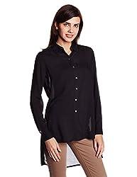 Lee Women's Tunic Shirt (LESH9106_Black_Small)