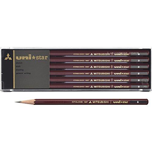mitsubishi-pencil-crayon-unistar-hexagonal-standard-b-douzaine-12-pi-ces-japan-import