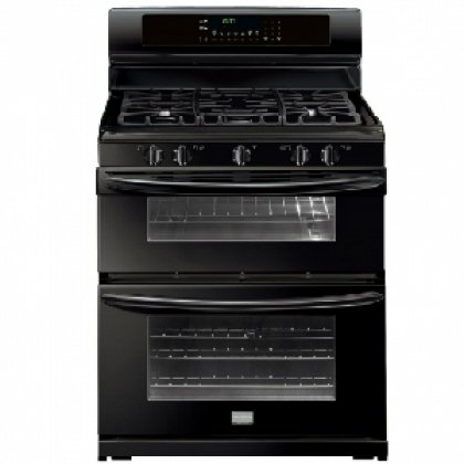 """Frigidaire Fggf304Dlb Gallery 30"""" Black Gas Sealed 5 Burner Double Oven Range - Convection"""