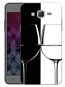 "Humor Gang Wine Glass Black White Printed Designer Mobile Back Cover For ""Samsung Galaxy j2"" (3D, Matte, Premium Quality Snap On Case)"