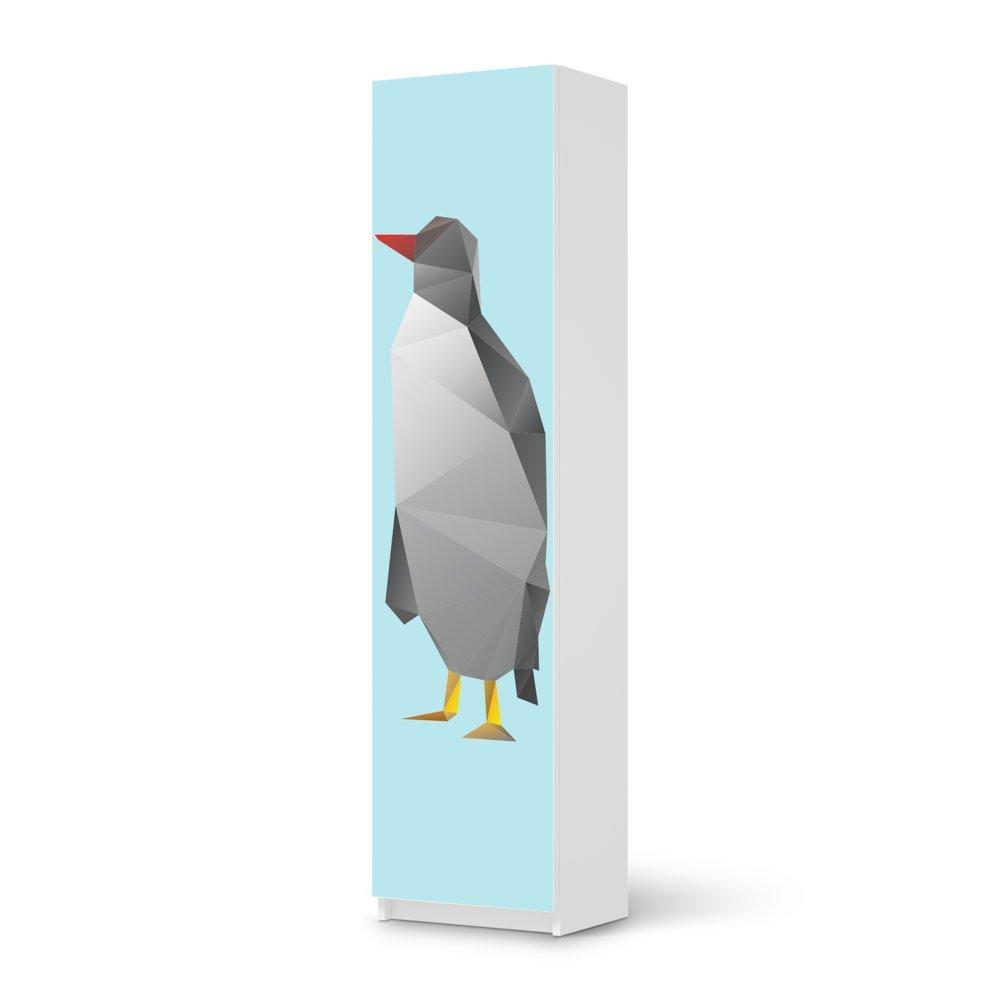 Möbel-Aufkleber IKEA Pax Schrank 201 cm Höhe – 1 Tür / Design Sticker Origami Penguin / selbstklebende Dekoration kaufen