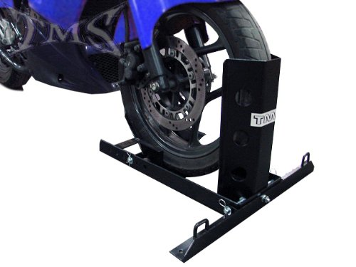 1000 lb Motorcycle Trailer Wheel Chock Bike Stand Truck Floor Towing Transport