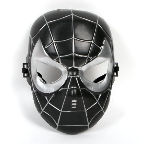 VENENO DE SPIDERMAN MASK - Cosplay Super Hero Amazing Spiderman Pretend Dress Up Kids Tamaño universal Negro Venom Spiderman Costume Mask