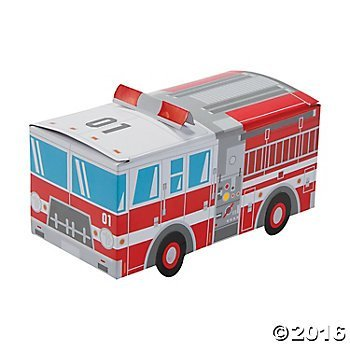 Fire Truck Party Favor Treat Boxes - 12 ct (Fire Engine Party Supplies compare prices)