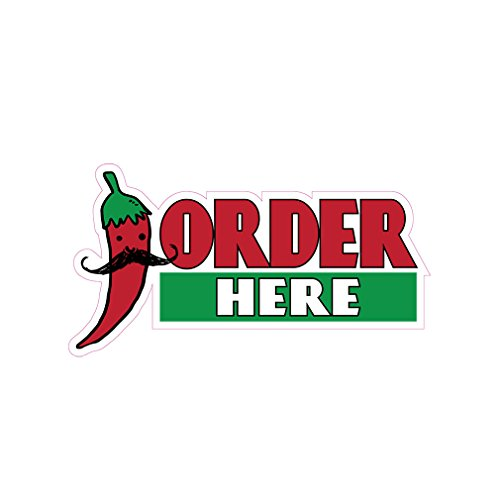 Order Here Concession Restaurant Food Truck Die-Cut Vinyl Sticker 18 inches (Restaurant Order Sign compare prices)