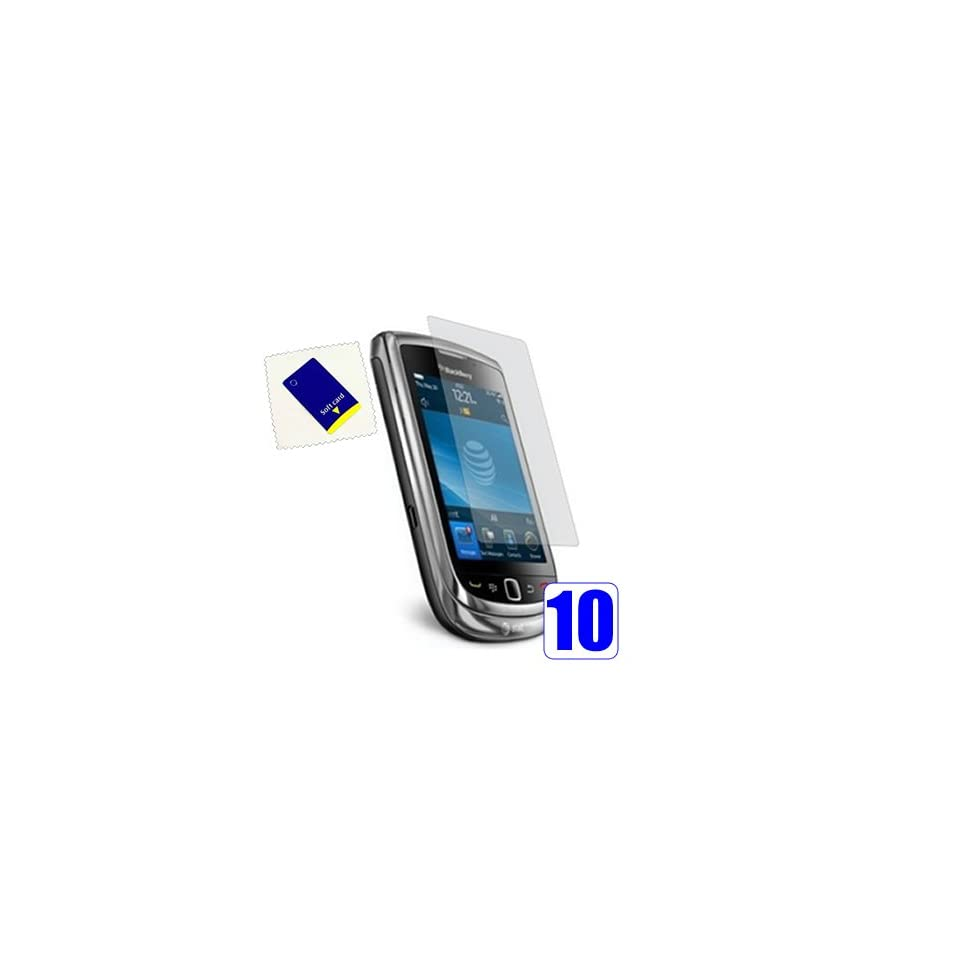 iTALKonline S Protect 10 PACK Anti Glare MATTE LCD Screen Protector & Micro Fibre Cleaning Cloth   BlackBerry 9800 9810 Torch