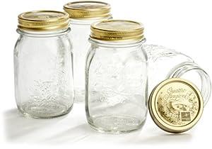 Bormioli Rocco Quattro Stagioni 4 Piece Canning Jar Set, Gift Boxed
