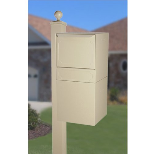 dVault Full Service Locking Mailbox, Sand Post/Column Mount Delivery Vault, Box and Side Mount In-Ground Post Kit, DVU0050-SMPI-6-KIT, Sand