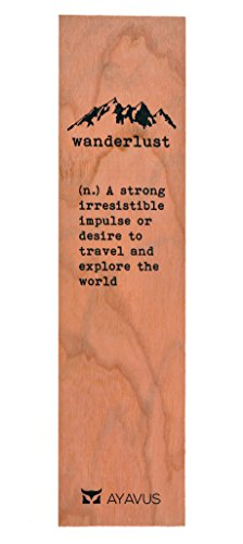 Wood Bookmark Wanderlust Travel Wooden Bookmark Traveling Gifts Hipster Quotes