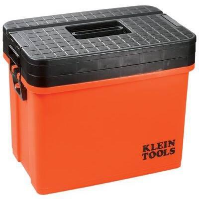 Klein Tool 54701 Hi-Viz Sit/Stand 3-Tier Tool Box, Orange