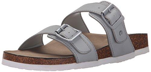 Madden Girl Women's Brando Flat Sandal, Grey, 7.5 M US