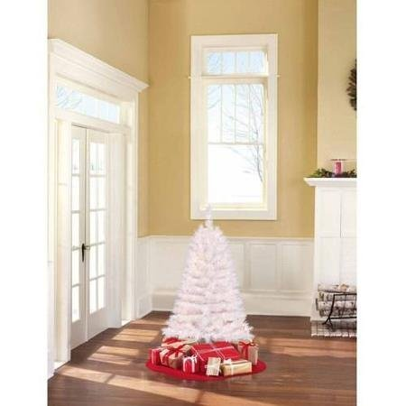 4-Ft-Pre-Lit-Clear-White-Indiana-Spruce-Artificial-Christmas-Tree