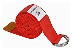 Marine Pearl Premium Quality Super Soft 8 Ft Organic Cotton Yoga Strap - Perfect for Stretching, Holding Poses, Improving Flexibility & Physical Thearpy (Lifetime Guarantee)