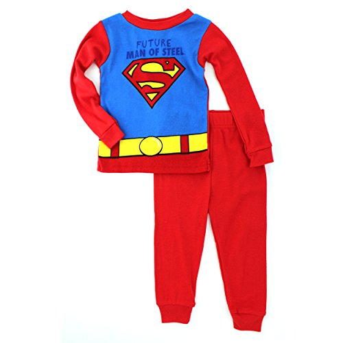 Superman Toddler Red Cotton Pajamas