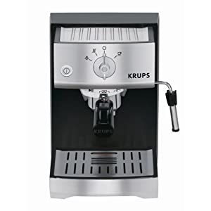 KRUPS XP5220 Precise Tamp Pump Espresso Machine, Black and Stainless at Sears.com
