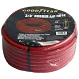 Red Rubber Air Hose 25 Ft x 1/2 x 1/2 Inch NPT