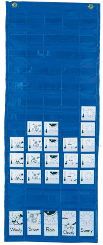 Creative Learner Weather Graph Packet Chart, 13 X 33 Inches, Blue, (0020300) (Weather Pocket Chart compare prices)