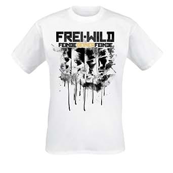 Frei.Wild - Feinde Deiner Feinde T-Shirt, weiss, Grösse S