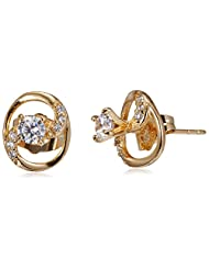 Sia Art Jewellery Stud Earrings For Women (Golden) (AZ2644)