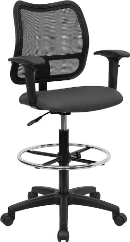 flash-furniture-wl-a277-gy-ad-gg-mid-back-mesh-drafting-stool-with-gray-fabric-seat-arms