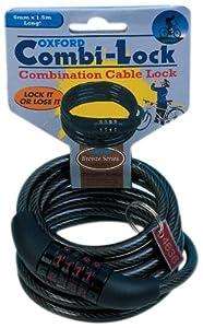 Oxford Combination Cable Lock - Bronze