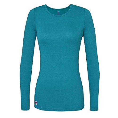 Sivvan Women's Comfort Long Sleeve T-Shirt / Underscrub Tee - S8500 - Teal Blue - S